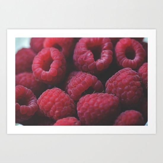 Ripe Raspberries  Art Print