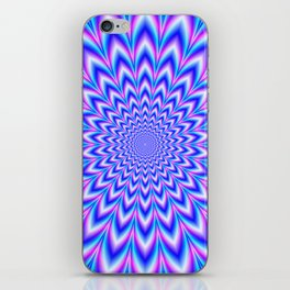 Psychedelic Pulse in Blue and Pink iPhone Skin