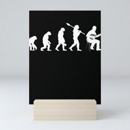 Mandolin evolution plucked instrument musician Mini Art Print