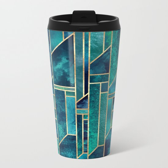 Blue Skies Metal Travel Mug