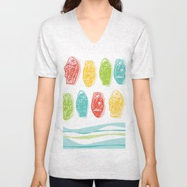 Wild Swedish Fish rule the Waves Unisex V-Neck