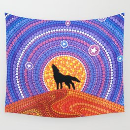 Night of the Wandering Wolf Wall Tapestry
