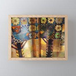 Venice venezia biennale detail Italy photo photography digital floral gold colors Framed Mini Art Print