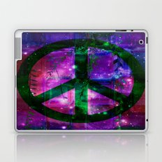 Peace symbol and infused colors Laptop & iPad Skin