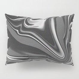 noisy black and white glitch Pillow Sham