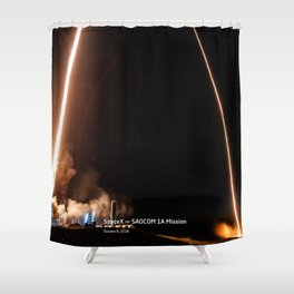 SpaceX — SAOCOM 1A Mission Shower Curtain
