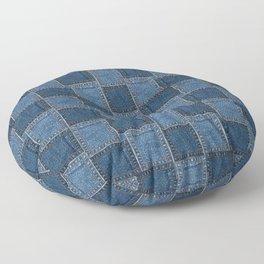 Denim Patch Floor Pillow