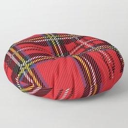 red kilt Floor Pillow