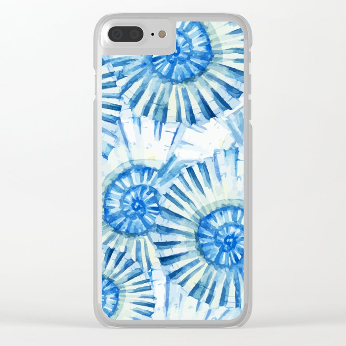 Sea Life Pattern 01 Clear iPhone Case