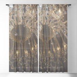 Glass Chandelier Sheer Curtain