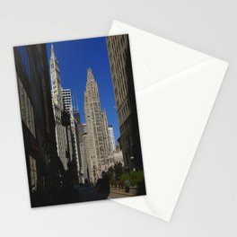 Michigan Avenue Sunshine and Shadows (Chicago Architecture Collection) Stationery Cards