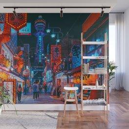 Osaka City Anime Scenes  Wall Mural