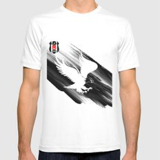 besiktas White Mens Fitted Tee MEDIUM