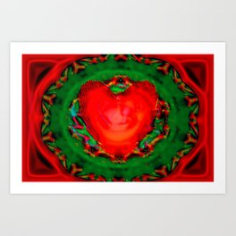 Well cushioned heart in well cushioned nest ... Art Print