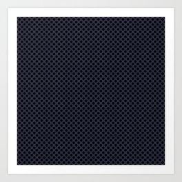 Peacoat and Black Polka Dots Art Print