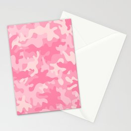 Pink Camouflage Stationery Cards