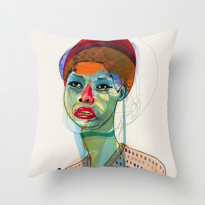 Girl_100412 Throw Pillow