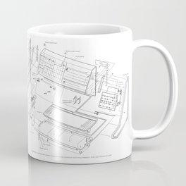 Korg MS-20 - exploded diagram Coffee Mug