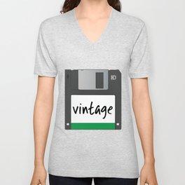 Vintage Floppy Disk Unisex V-Neck