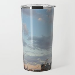 Manhattan Skyline and Sunset Travel Mug