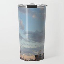 Manhattan Skyline and Sunset Travel Mug