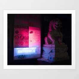 Urban Nights, Urban Lights 5 Art Print
