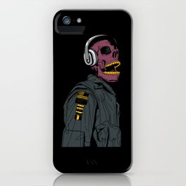 Skull Aviator Man iPhone Case
