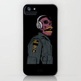 Skull Aviator Man iPhone Case