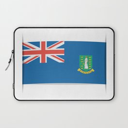 Flag of British Virgin Islands. The slit in the paper with shadows.  Laptop Sleeve