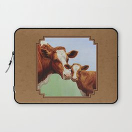 Guernsey Cow and Cute Calf Laptop Sleeve