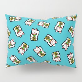 Lucky Cat Pattern Pillow Sham