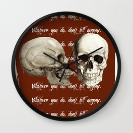 Lost Art of Keeping A Secret Wall Clock