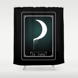 Luna Tarot Card Shower Curtain