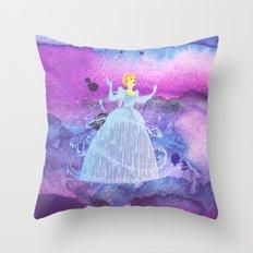 Cinderella On Watercolors Throw Pillow