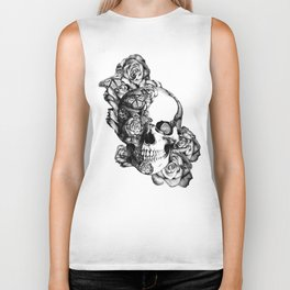 Butterfly rose skull with ladybugs. Good luck Biker Tank