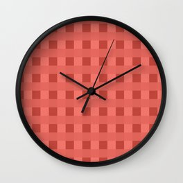 Retro Red Squares Wall Clock