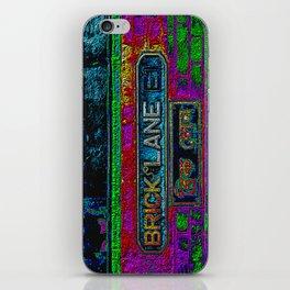 Brick Lane, Black Velvet iPhone Skin
