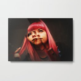 The Mirror Devil Candy Floss Metal Print
