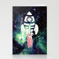 spaceship Stationery Cards featuring Spaceship by Cs025
