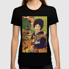 Vintage Japanese Beer Colorful Ad T-shirt