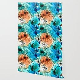Modern Floral Art - Wild Flowers 2 - Sharon Cummings Wallpaper