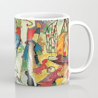 "kandinsky Mugs featuring Vasily Kandinsky Sketch for ""Composition II"" by Artlala for MSF Doctors Without Borders"