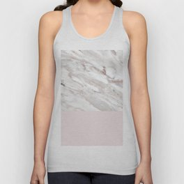Blush and taupe marble Unisex Tank Top
