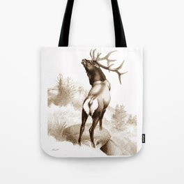 Elk In The Roar Tote Bag