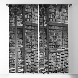 A book lovers dream - Cast-iron Book Alcoves Cincinnati Library black and white photography Blackout Curtain