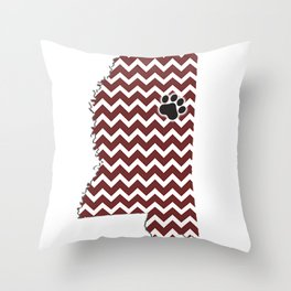 Mississippi State Throw Pillow