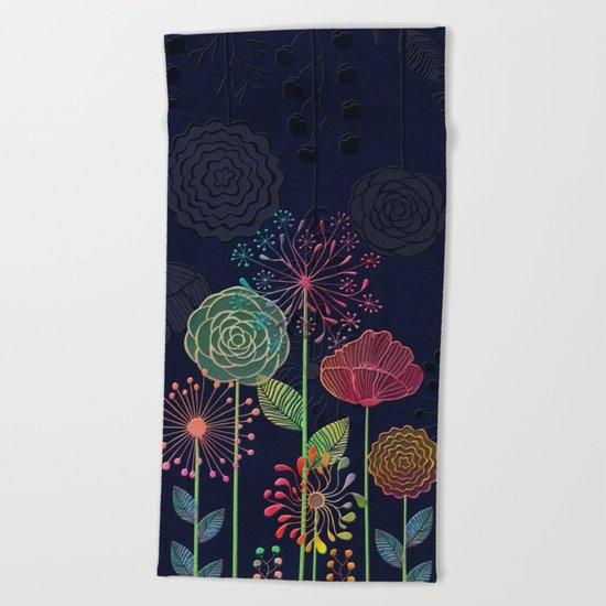Flower Tales 2 Beach Towel