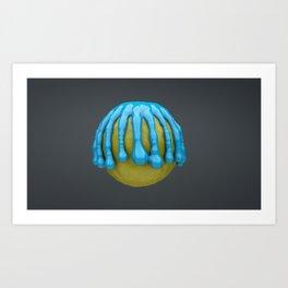 Lemon Drips Art Print