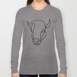 antiquity - one line bull art Long Sleeve T-shirt