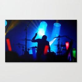 Drummer Silhouette Canvas Print